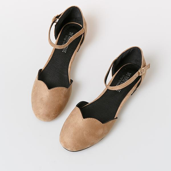 Heraposh  Flats 230 / Beige Ashley Flat Shoes HP-S000010