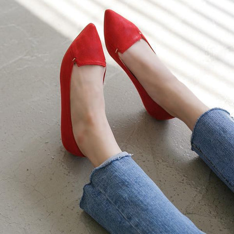 Heraposh  Flats 230 / Red Autumn Kitten Heels HP-S000001