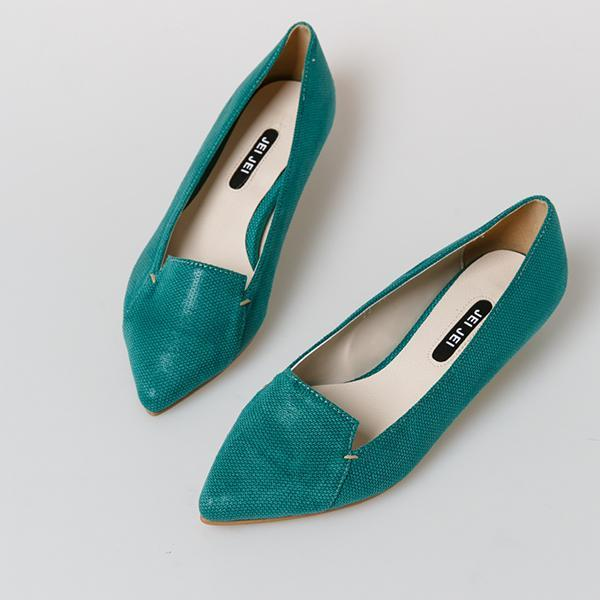 Heraposh  Flats 230 / Green Autumn Kitten Heels HP-S000001