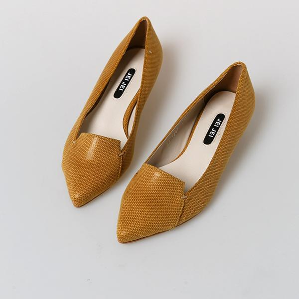 Heraposh  Flats 235 / Golden Brown Autumn Kitten Heels HP-S000001