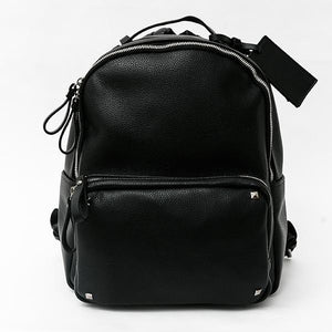 Heraposh  Bags Black Ava Smooth Leather Backpack HP-BA000006