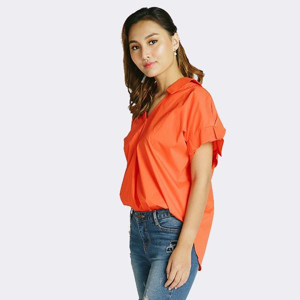 Heraposh  Tops Free Size / Tangerine Barbara Loose Top HP-T000135