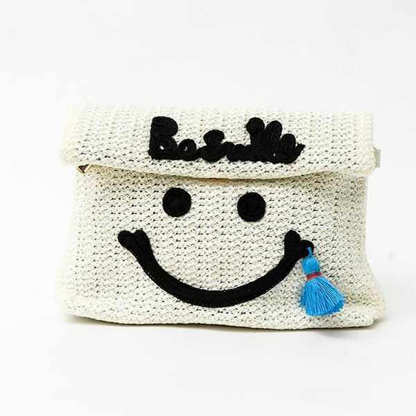 Heraposh  Bag White Be Happy Convertible Clutch Bag HP-BA000033