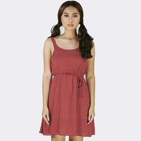 Heraposh  Dresses Free Size / Red Bianca Snow Mini Dress HP-D000029