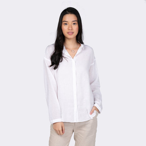 Heraposh  Tops Free Size / White Celine Button Up Striped Shirt HP-T000120