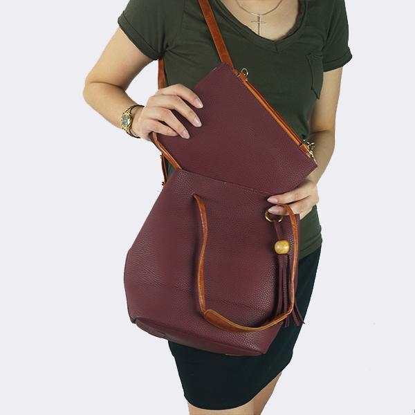 Heraposh  Bags Maroon Daily Sling Bag & Pouch HP-BA000041