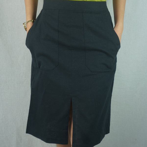 Heraposh  Bottoms Free Size / Navy Blue Daisy Winning Skirt HP-B000041