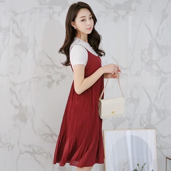 Heraposh  Dress Free Size / Red Danica Casual Dress HP-D000016