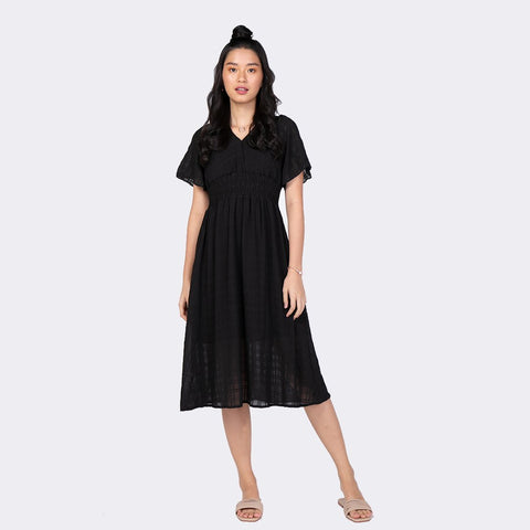 Heraposh  Dresses Free Size / Black Dara Beach Dress HP-D000047