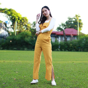 Heraposh  Others Free Size / Yellow Darcy Ruffled Jumpsuit HP-J000006