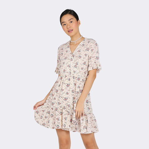 Heraposh Dress Free Size / Black Dasom Floral Wrap Dress HP-D000053