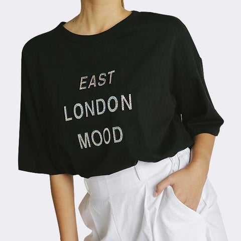Heraposh  Tops Free Size / Black East London Mood Shirt HP-T000122