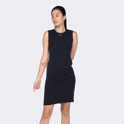 Heraposh  Dress Small / Black Ellaine Sleeveless Sheath Dress HP-D000038