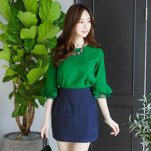Heraposh  Tops Free Size / Green Florence Blouse HP-T000012