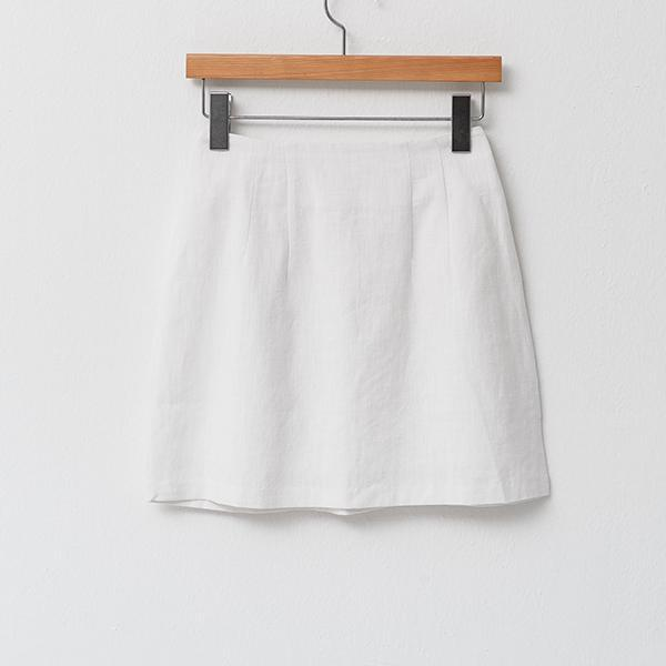 Heraposh  Bottoms Free Size / White Harriet Plain Zip Skirt HP-B000016