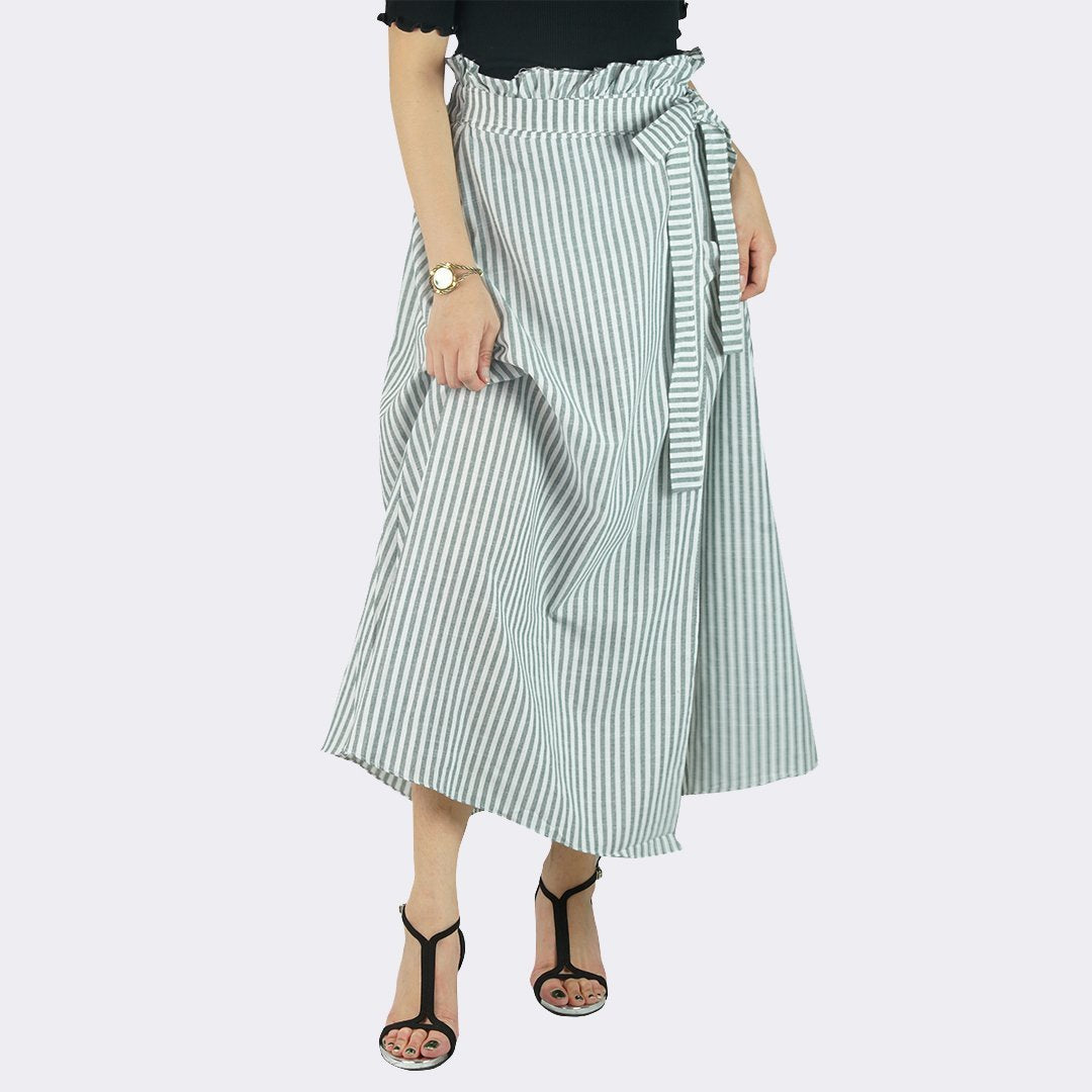 Heraposh  Bottoms Free Size / Greenish Irene Maxi Skirt HP-B000051