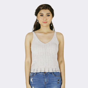 Heraposh  Tops Free Size / Beige Ivy Knitted Top HP-T000097