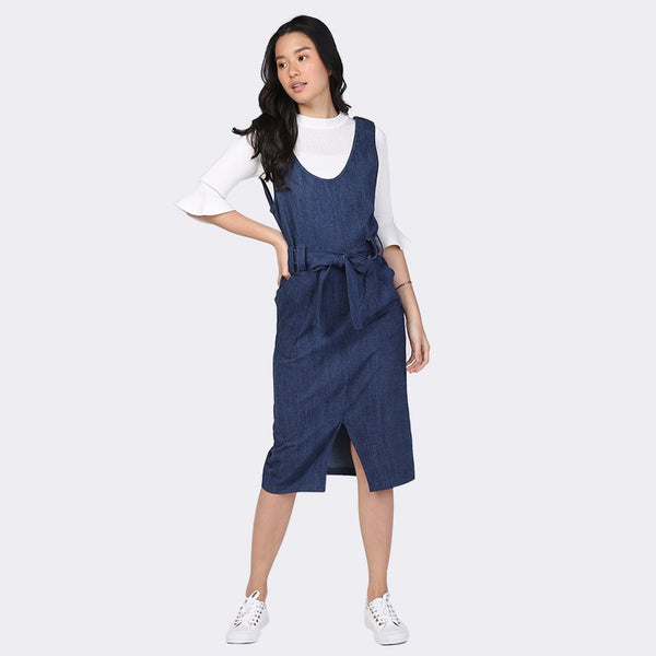 Heraposh  Jumper Free Size / Navy Blue Jasmine Cool Pocket HP-J000005