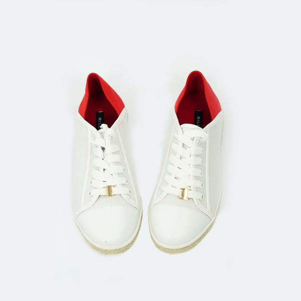 Heraposh  Flats US size: 6 / Red Jennie Style Sneakers HP-S000029