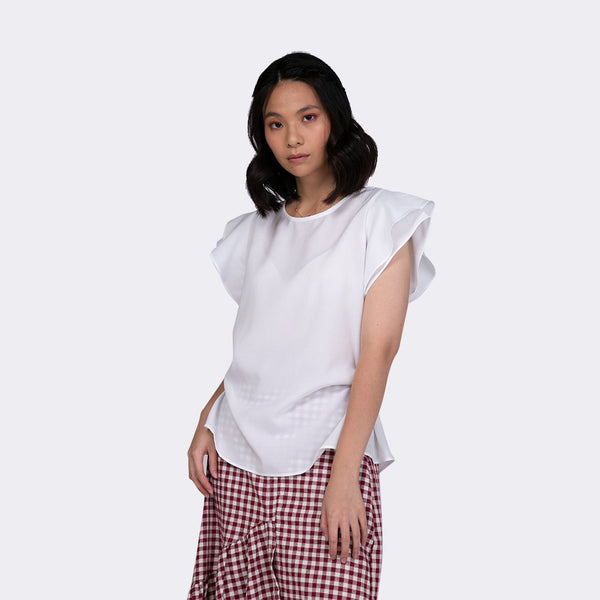 Heraposh  Tops Free Size / White Karen Elite Blouse HP-T000008