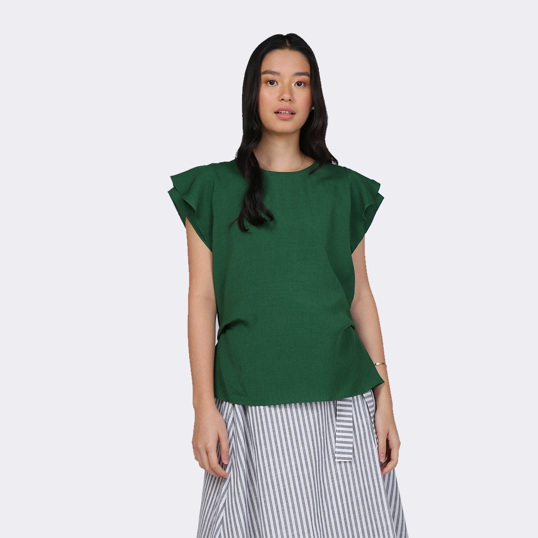 Heraposh  Tops Free Size / Forest Green Karen Elite Blouse HP-T000008