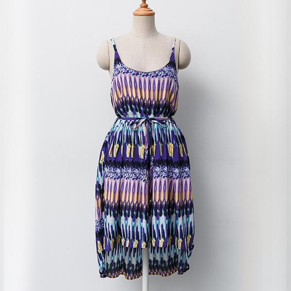Heraposh  Dress Free Size / Violet Kate Print Sun Dress HP-D000021