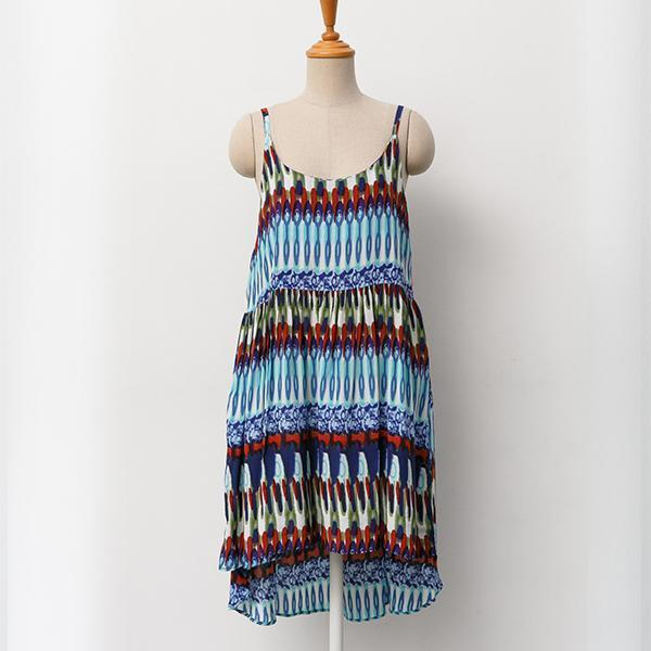 Heraposh  Dress Free Size / Blue Kate Print Sun Dress HP-D000021