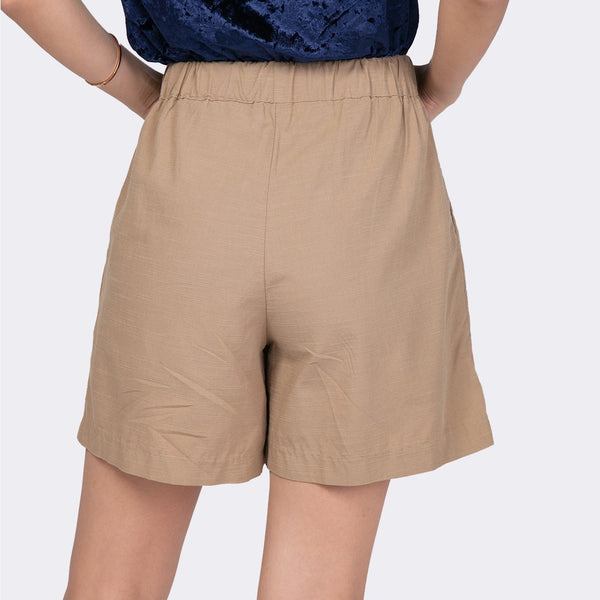 Heraposh  Bottoms Small / Brown Katie Cotton Shorts HP-B000046