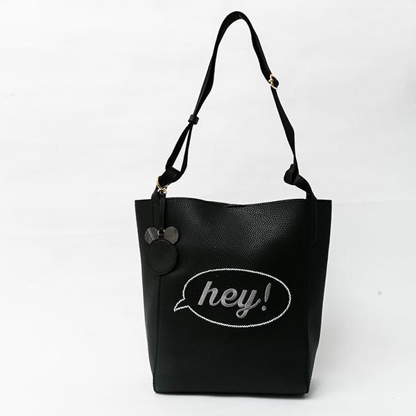 Heraposh  Bags Black Kira Printed Leather Tote HP-BA000005