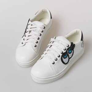 Heraposh  Shoes 235 / White Lia Platform Sneakers HP-S000022