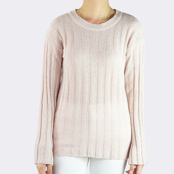 Heraposh  Tops Free Size / Rose Pink Liffy Knitted Sweater Top HP-T000116