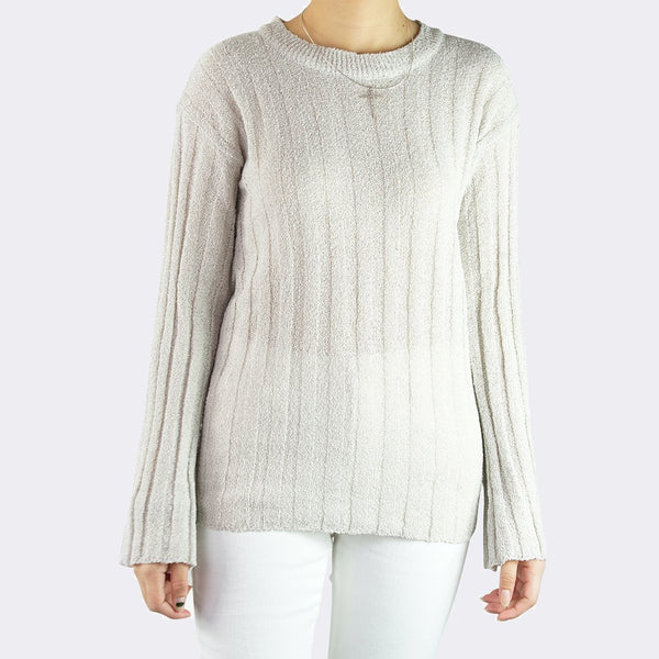 Heraposh  Tops Free Size / Beige Liffy Knitted Sweater Top HP-T000116