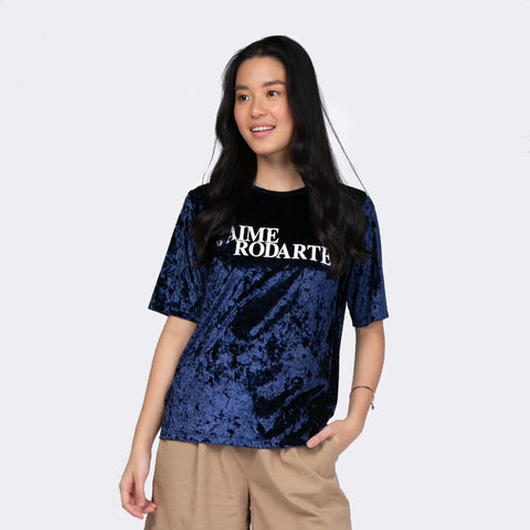 Heraposh  Tops Free Size / Blue Lisa Velvet Shirt HP-T000104