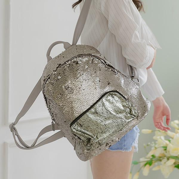 Heraposh  Bags Black Lorie Sequined Backpack HP-BA000021