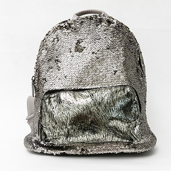 Heraposh  Bags Grey Lorie Sequined Backpack HP-BA000021