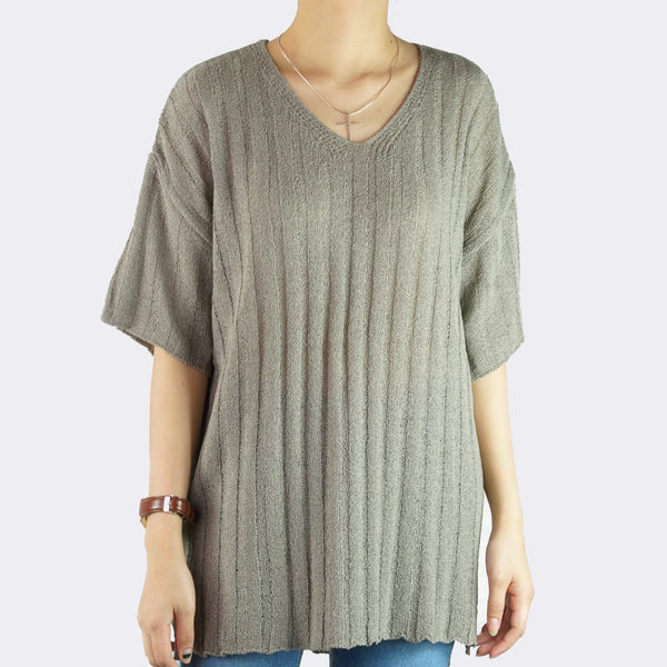 Heraposh  Tops Free Size / Gray Lucia Knitted Top HP-T000115