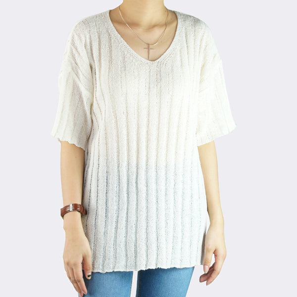Heraposh  Tops Free Size / White Lucia Knitted Top HP-T000115