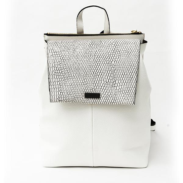 Heraposh  Bags White Mace Quilted Backpack HP-BA000024