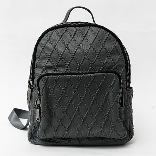 Heraposh  Bags Dark Gray Mara Leather Backpack HP-BA000018