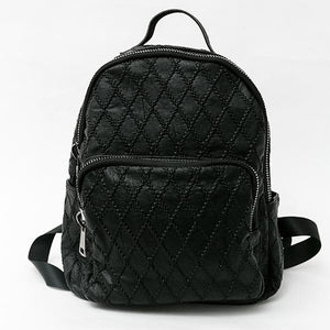 Heraposh  Bags Black Mara Leather Backpack HP-BA000018