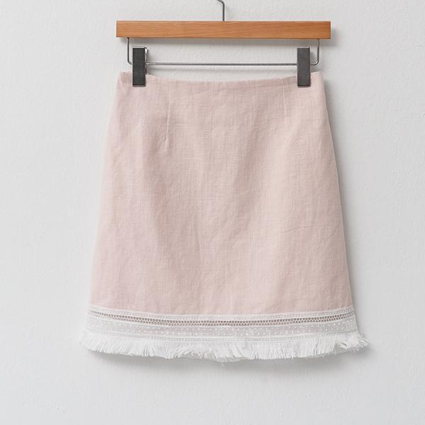 Heraposh  Bottoms Free Size / Blush pink, Marga Skirt with Simple Edge Details HP-B000013
