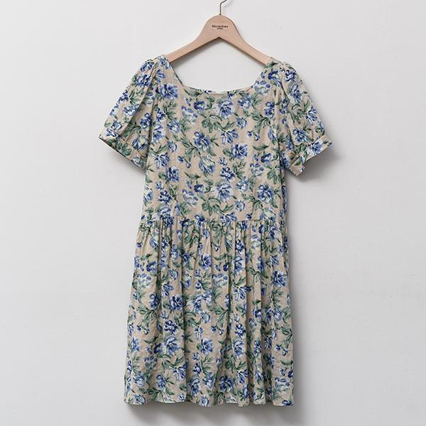 Heraposh  Dress Free Size / Cream Mariane Floral Dress HP-D000013