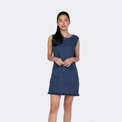 Heraposh  Dress Free Size / Blue Melisa Sleeveless Sheath Dress HP-D000036