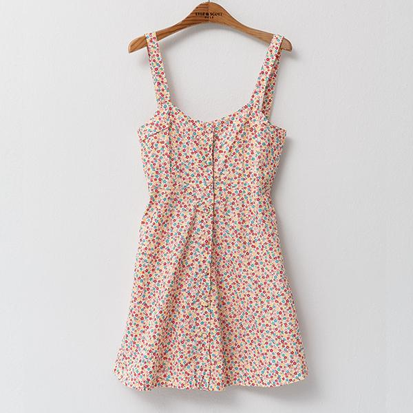 Heraposh  Dress Free Size / Pink Missy Floral Skater Dress HP-D000010