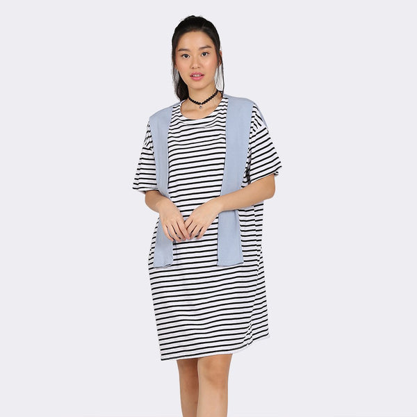Heraposh  Dresses Free Size / Navy Blue Momo Scarf Dress HP-D000044