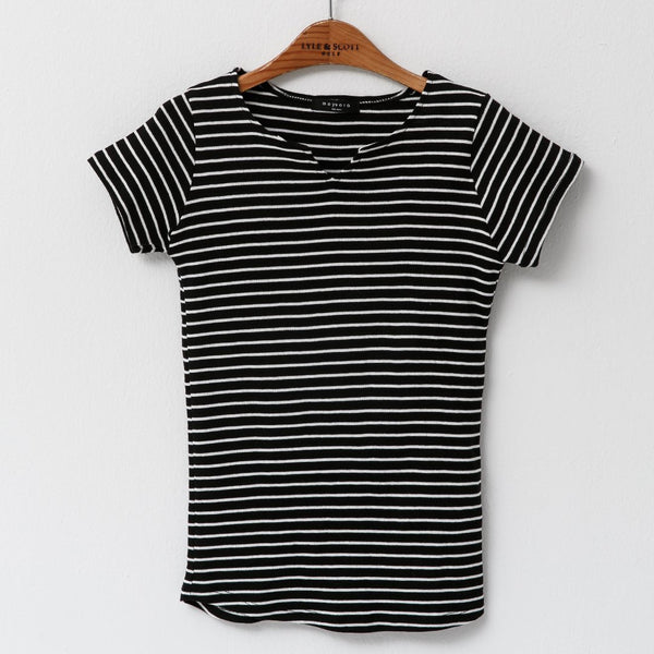 Heraposh  Tops Moyeora Striped Shirt