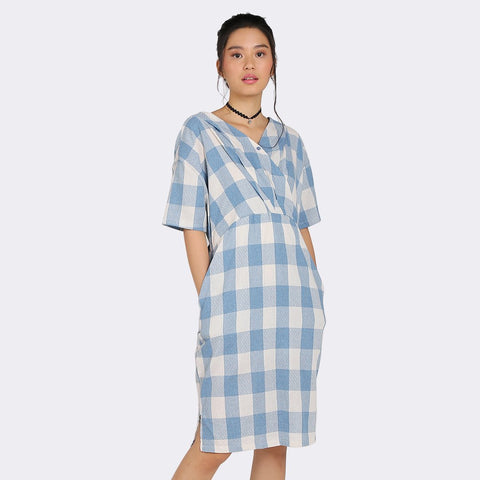 Heraposh Dress Nayeon Gingham Midi Dress
