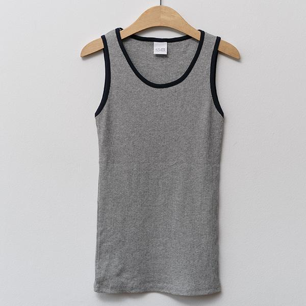 Heraposh  Tops Free Size / Acid Gray Nicki Sleeveless Shirt HP-T000087