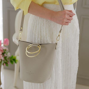 Heraposh  Bags Light Gray Paris Convertible Bucket Bag HP-BA000028