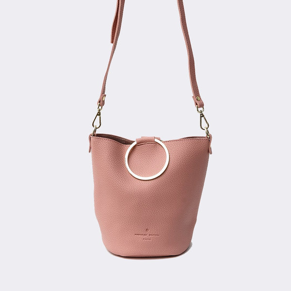 Heraposh  Bags Pink Paris Convertible Bucket Bag HP-BA000028